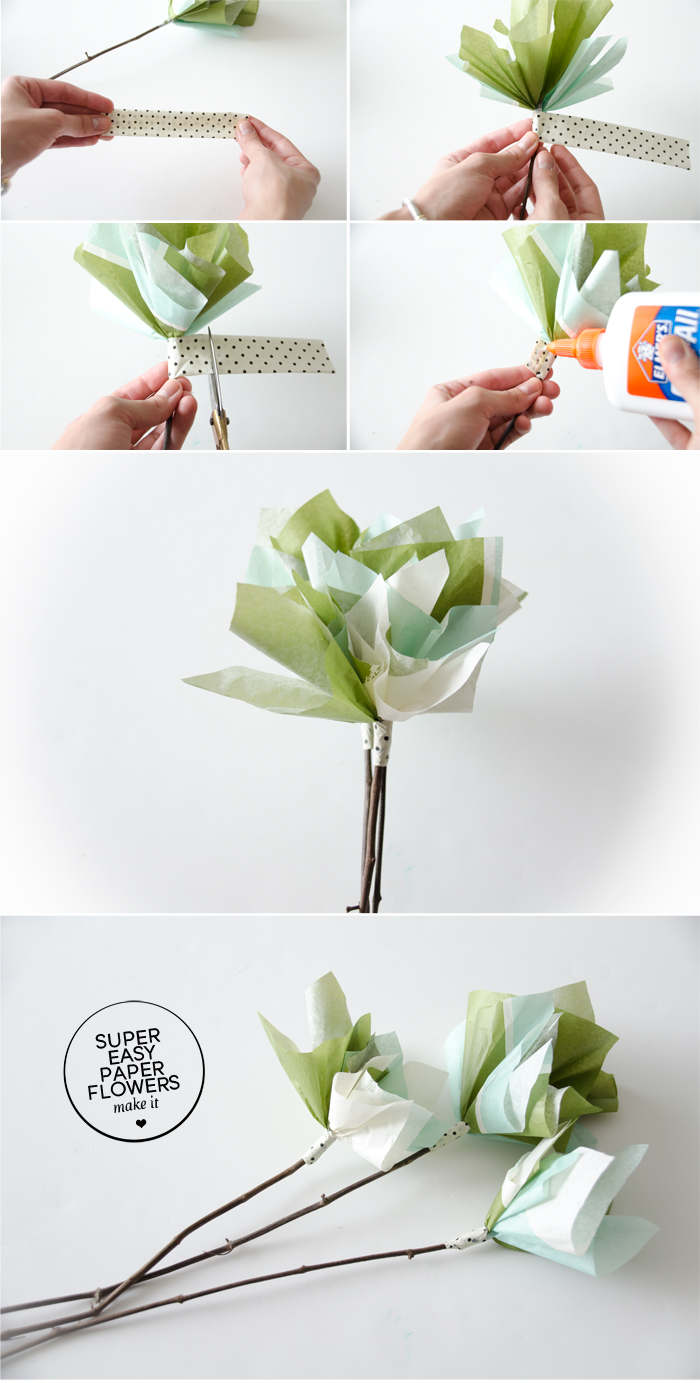 Super Easy Paper Flowers Diy The Folding Chair