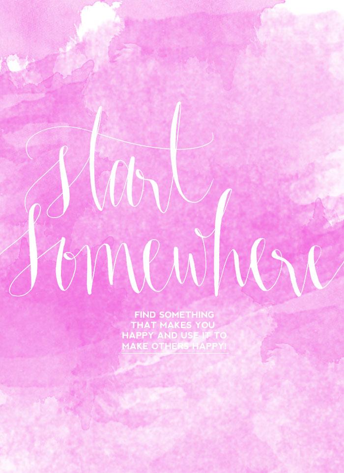 Startsomewhere